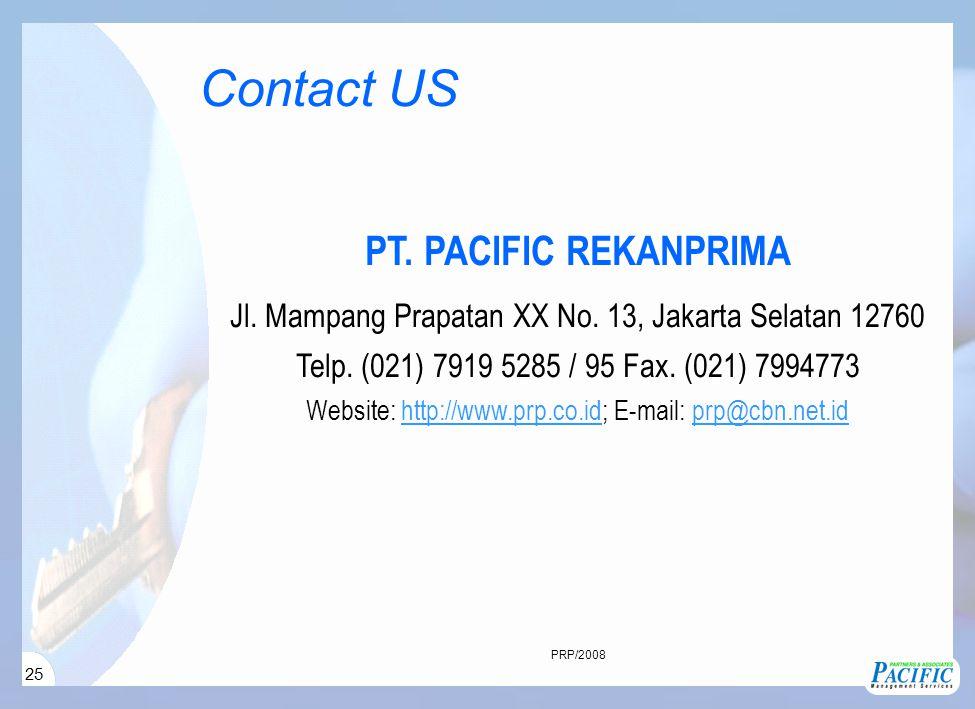 25 PT. PACIFIC REKANPRIMA Jl. Mampang Prapatan XX No.