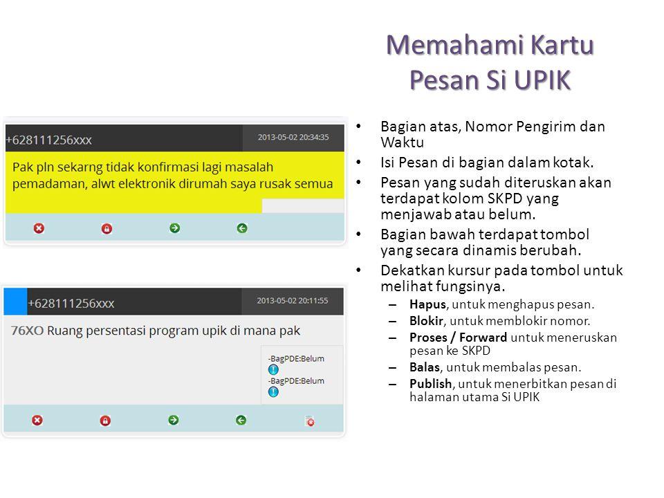 Menu Manage User Halaman pada Manage User, ini digunakan untuk mengelola User Si UPIK.