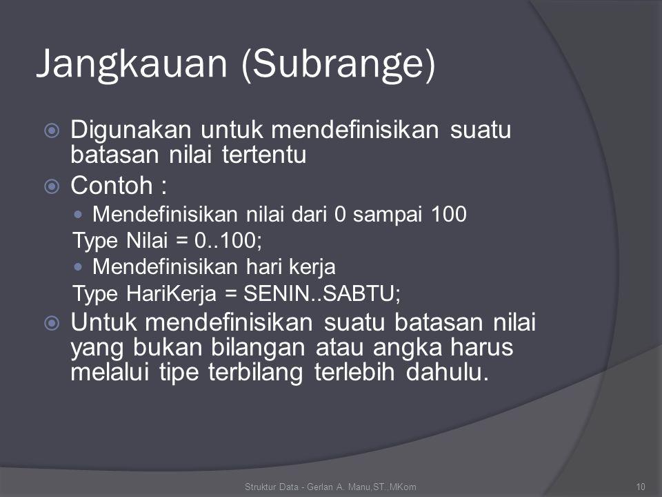 String  String adalah data yang berisi sederetan karakter yang banyaknya karakter bisa berubah-ubah sesuai kebutuhan, yaitu dari 1 sampai 255 karakter.