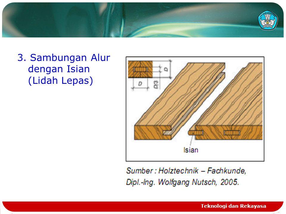 3. Sambungan Alur dengan Isian (Lidah Lepas) Teknologi dan Rekayasa