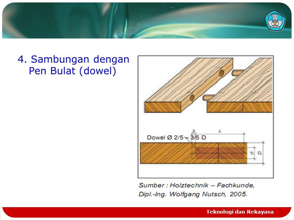 4. Sambungan dengan Pen Bulat (dowel) Teknologi dan Rekayasa