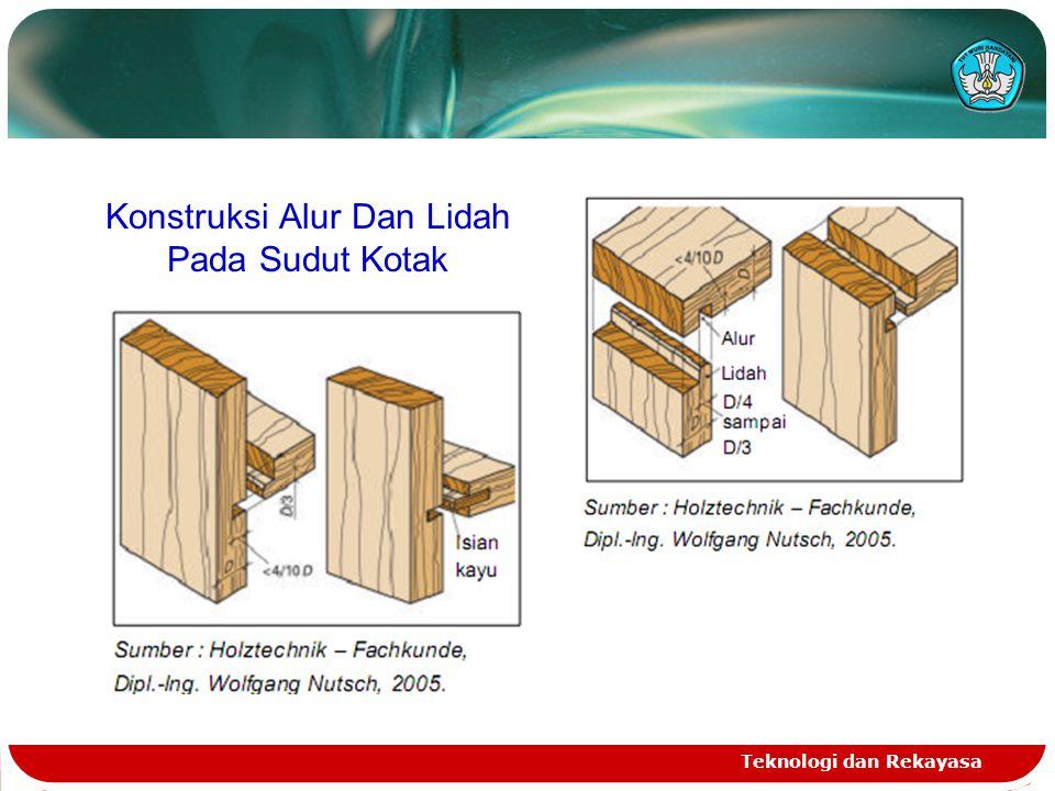 Konstruksi Alur Dan Lidah Pada Sudut Kotak Teknologi dan Rekayasa