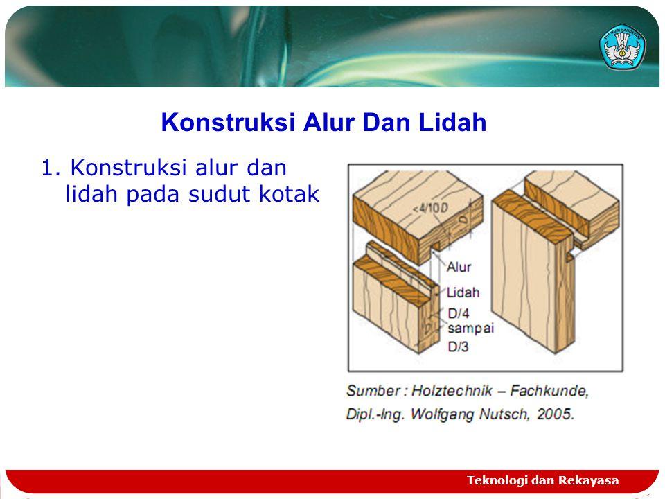 Konstruksi Alur Dan Lidah 1. Konstruksi alur dan lidah pada sudut kotak Teknologi dan Rekayasa