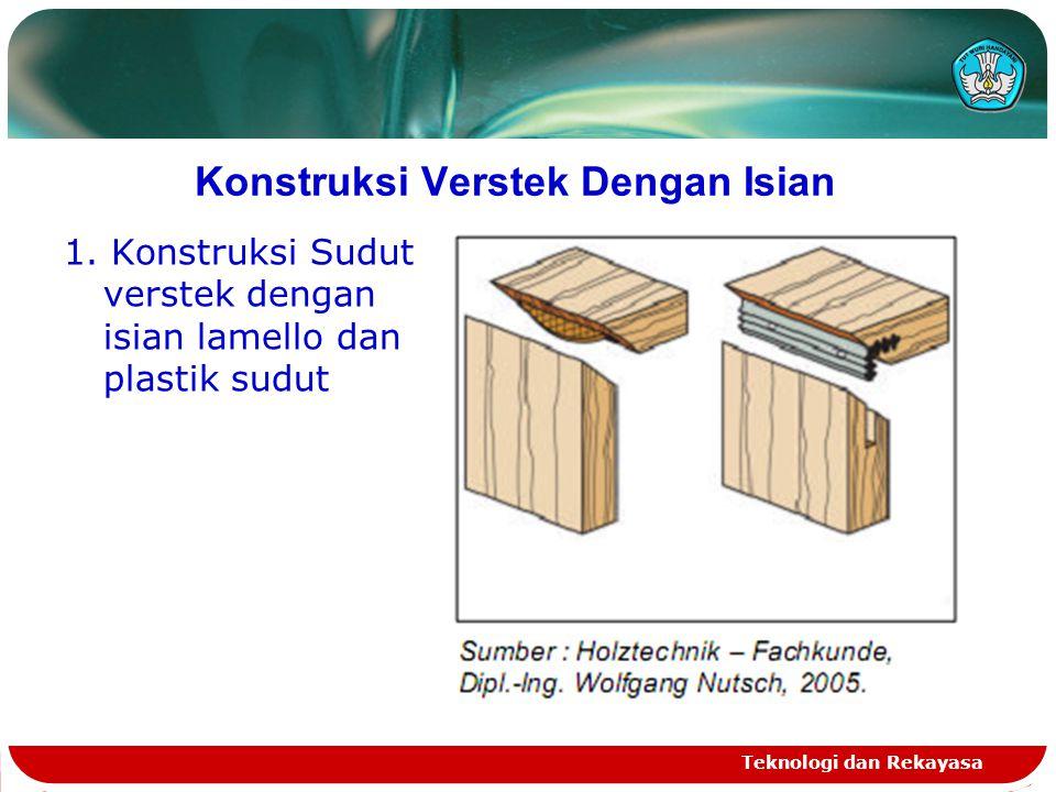 Konstruksi Verstek Dengan Isian 1. Konstruksi Sudut verstek dengan isian lamello dan plastik sudut Teknologi dan Rekayasa