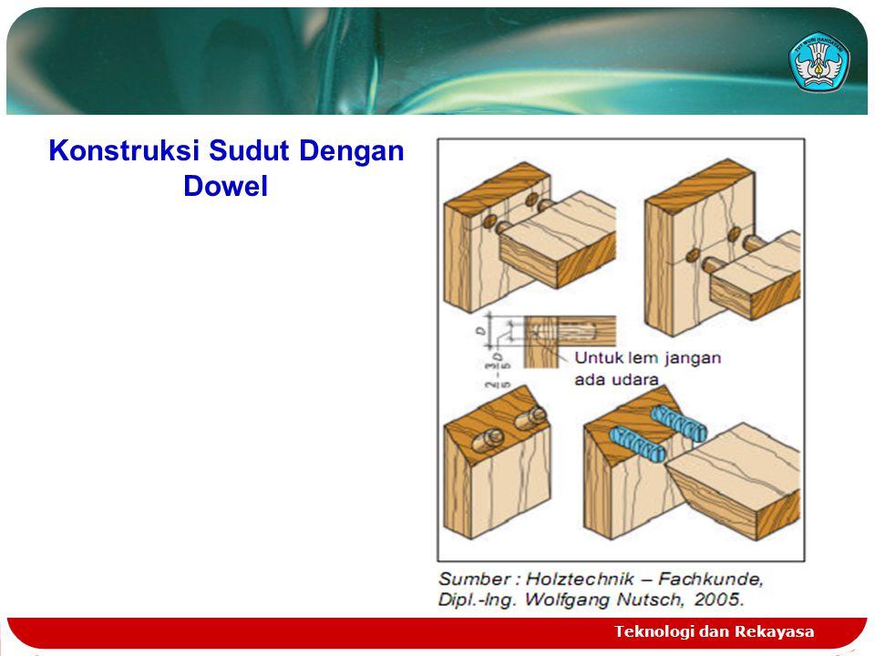Konstruksi Sudut Dengan Dowel Teknologi dan Rekayasa