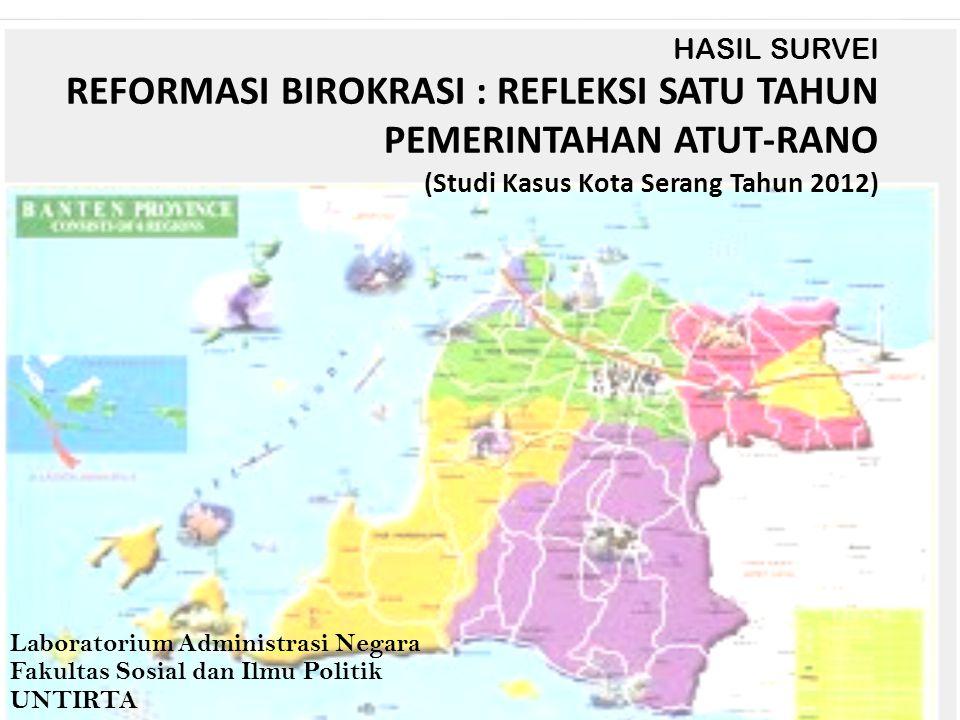 Tujuan Menilai kinerja kepala daerah Pemerintahan Provinsi Banten menjelang satu tahun kepemimpinan.