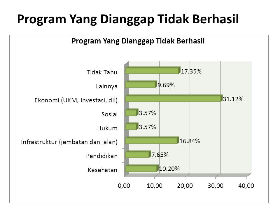 Program Yang Dianggap Tidak Berhasil