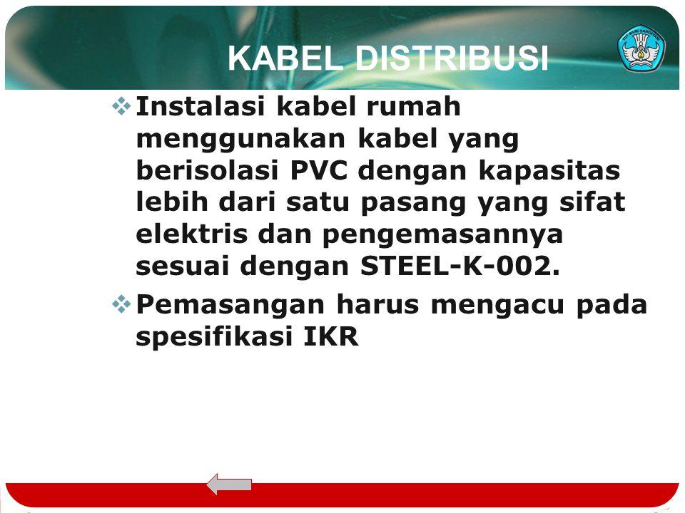 SALURAN PENANGGAL  Kabel ini menghubungkan antara KP dengan KTB.  Kabel yang digunakan adalah kabel drop wire.  Ada dua jenis drop wire yaitu : -dr