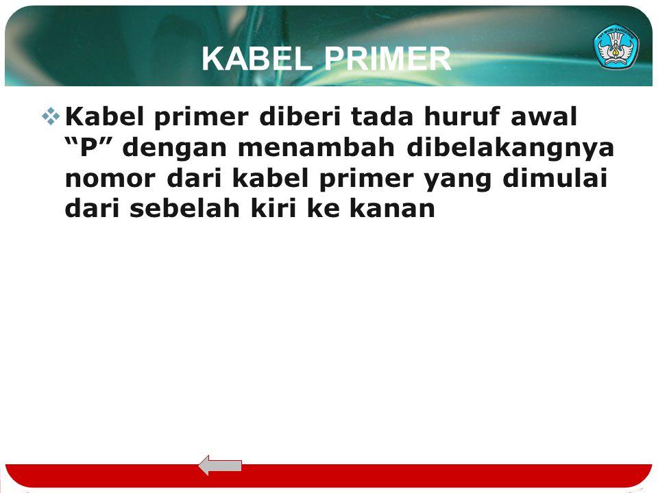 PEMBERIAN TANDA  Kabel primer Kabel primer  Kabel sekunder Kabel sekunder  RK RK  Daerah Catu Langsung (DLC) Daerah Catu Langsung (DLC)  Titik Pe
