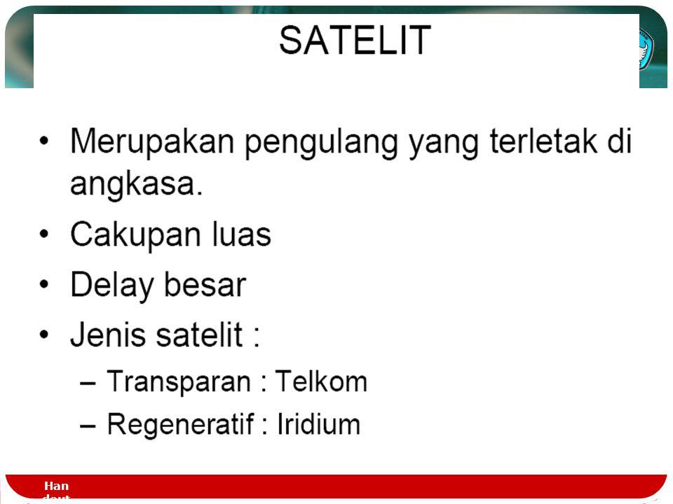 Handout - DASTEL - PT.1123 Media Radio lewat Satelit  Satelit beredar mengelilingi bumi  Menurut hukum kepler maka waktu edar dan ketinggian satelit