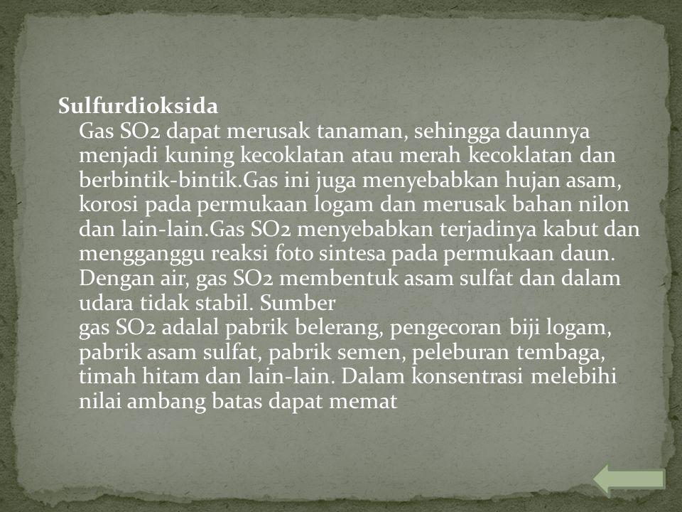 Fluorida Fluorida adalah racun bersifat kumulatif dan dapat berkembang d atmosfer karena amat reaktif. Dalam bentuk fluorine, zat ini tidak dihisap ta