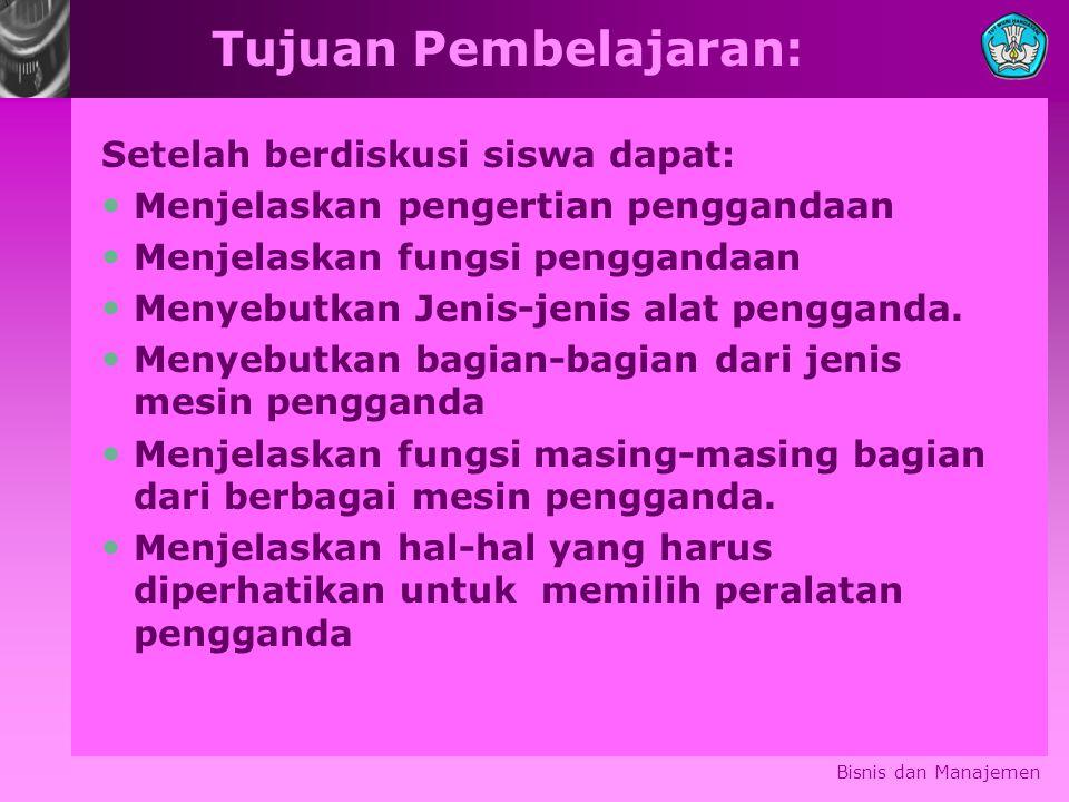 Pengertian Penggandaan: Menurut Kamus Besar Bahasa Indonesia Balai Pustaka, ditulis arti kata penggandaan, yakni : proses, cara, perbuatan menggandakan.