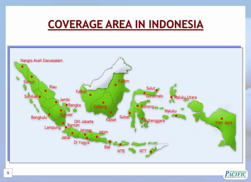 9 COVERAGE AREA IN INDONESIA