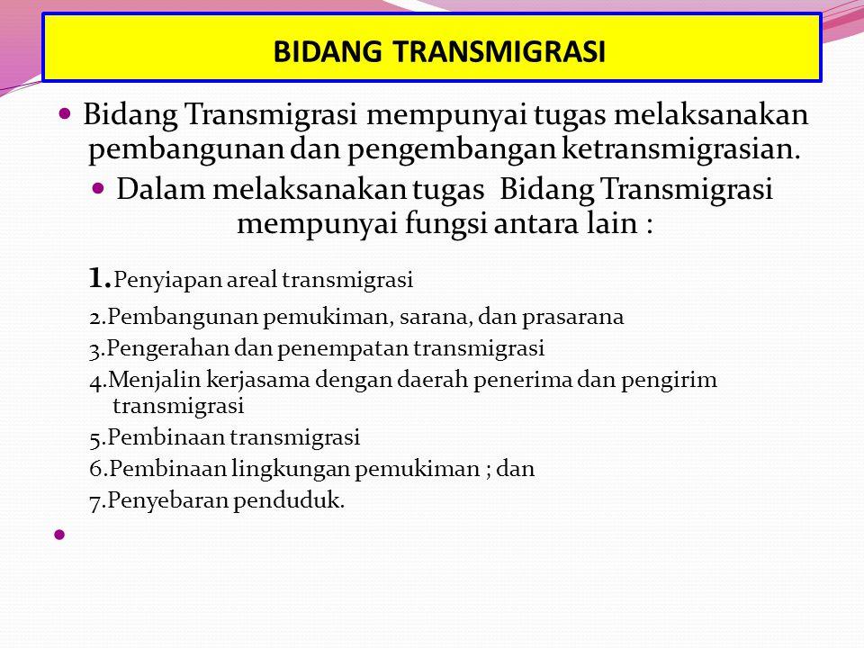 BIDANG TRANSMIGRASI