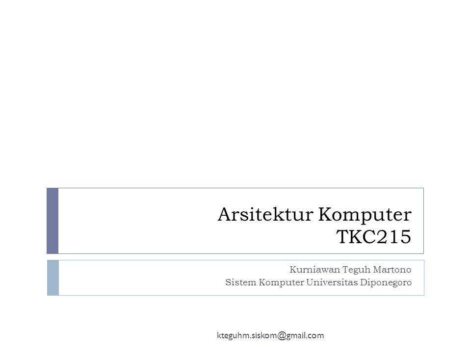 Informasi Mata kuliah Kteguhm.siskom@gmail.com Nama Mata KuliahArsitektur Komputer Kode Mata Kuliah SKS2 Semester4 JadwalA : Kamis, 07.50-09.30 (D304) B : Selasa, 07.50 -09.30 (E202) DosenKurniawan Teguh Martono, S.T., M.T