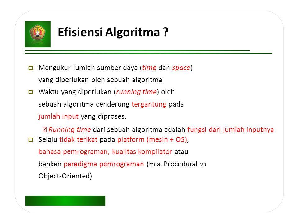 Efisiensi Algoritma .