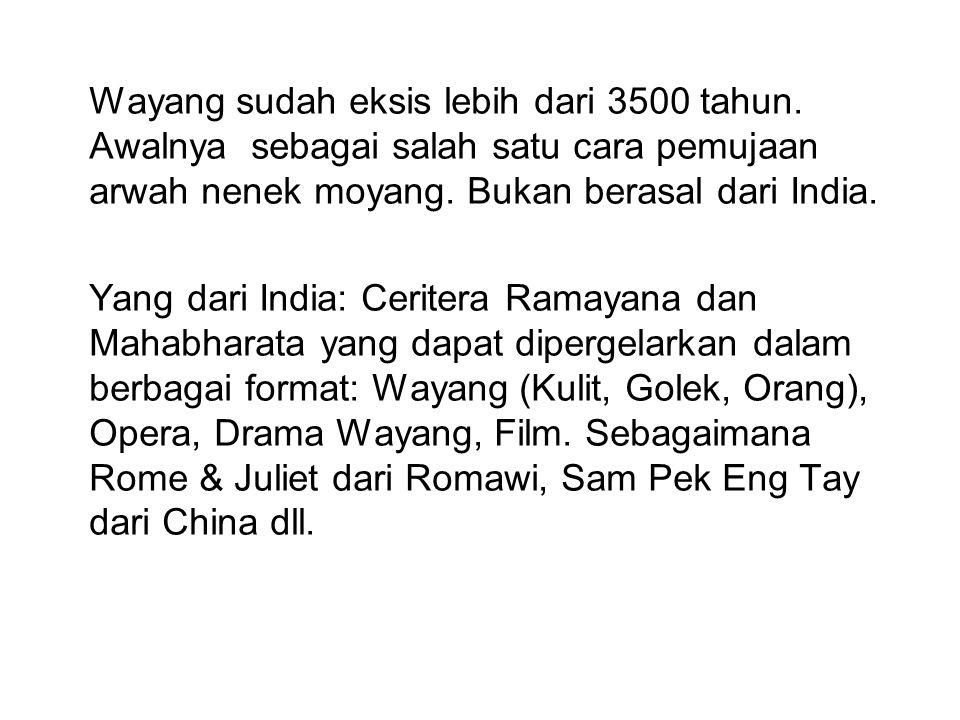 Perbedaan seni pertunjukan wayang pada zaman penjajahan dan zaman kemerdekaan: Zaman penjajahan: dibina pemerintah kerajaan Surakarta dan Yogyakarta.