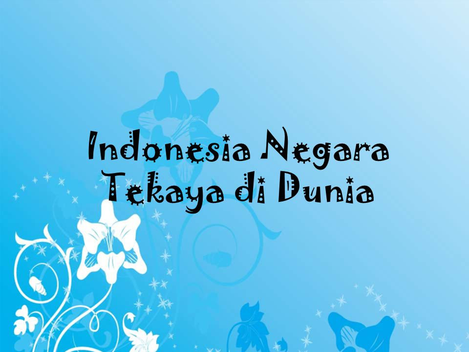 Indonesia Negara Tekaya di Dunia