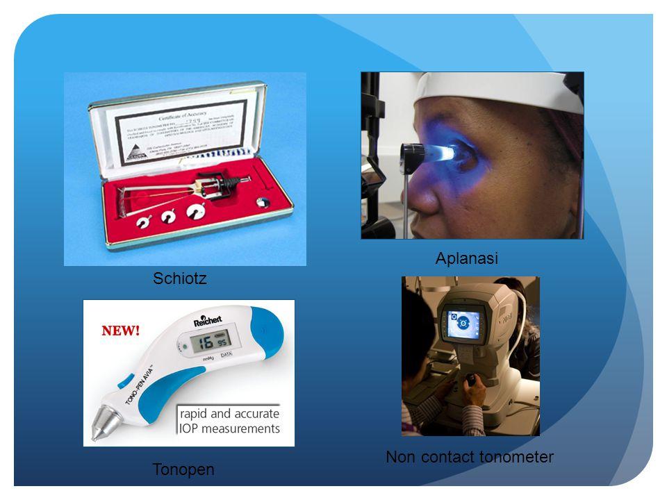 Schiotz Aplanasi Tonopen Non contact tonometer