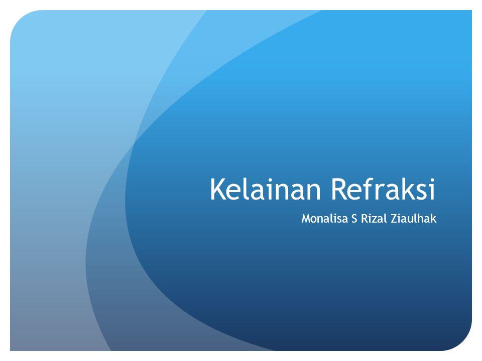 Kelainan Refraksi Monalisa S Rizal Ziaulhak