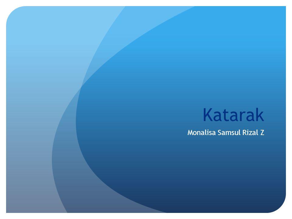 Katarak Monalisa Samsul Rizal Z