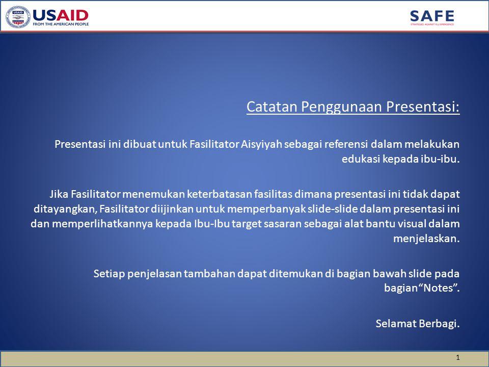 Catatan Penggunaan Presentasi: Presentasi ini dibuat untuk Fasilitator Aisyiyah sebagai referensi dalam melakukan edukasi kepada ibu-ibu. Jika Fasilit