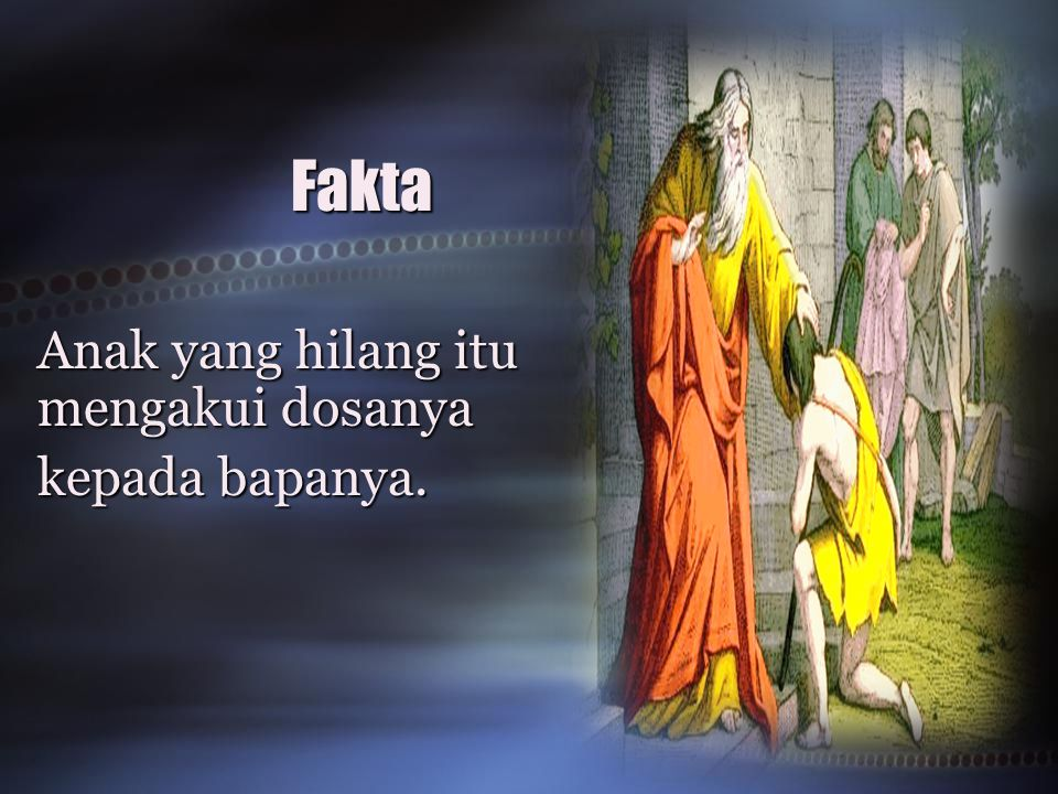 Fakta Anak yang hilang itu mengakui dosanya kepada bapanya.