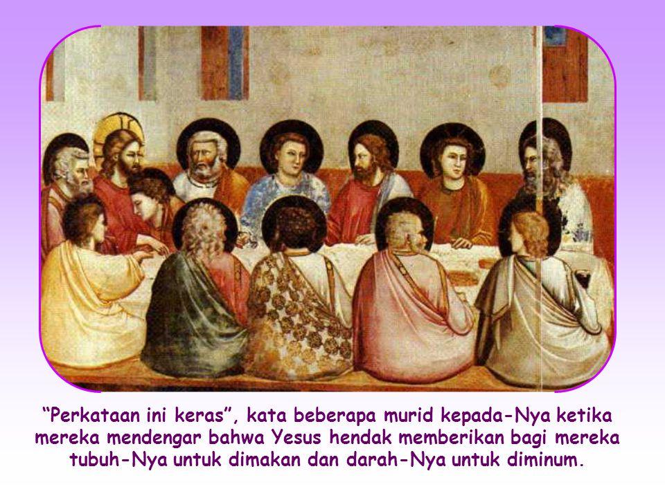 Namun amanat Yesus menjadi lebih mendalam lagi ketika Dia berbicara dengan murid-muridNya: Dia secara terus terang berbicara tentang Bapa-Nya dan tentang hal-hal surgawi, tidak lagi dengan kiasan.