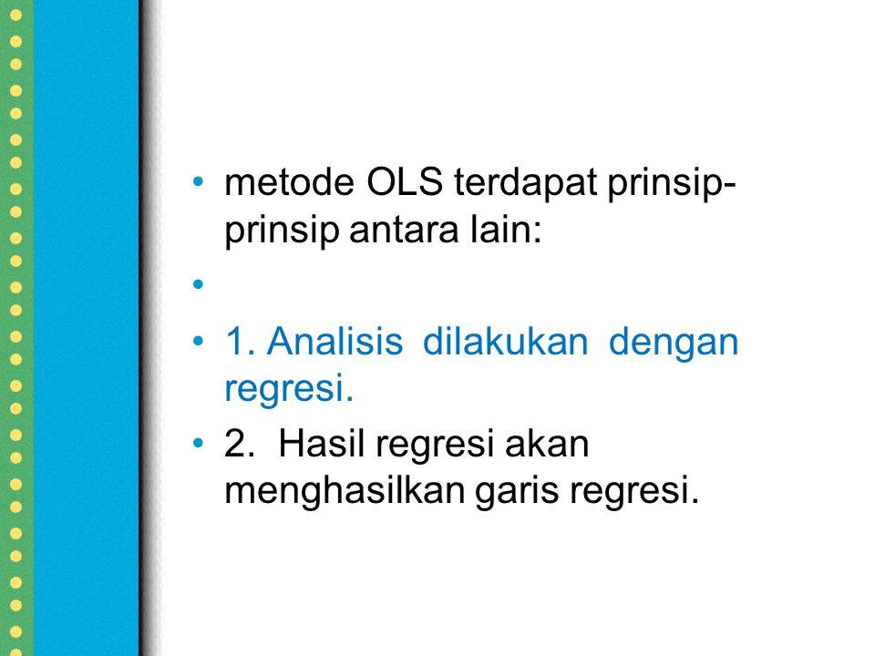 metodeOLSterdapat prinsip- prinsip antara lain: 1.
