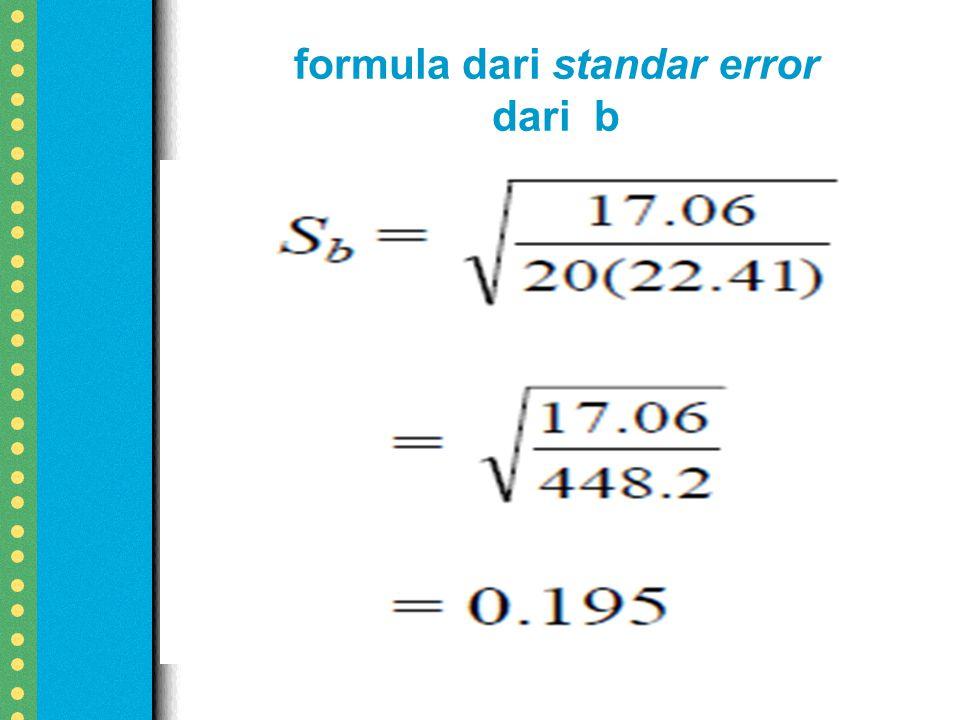 formula dari standar error dari b