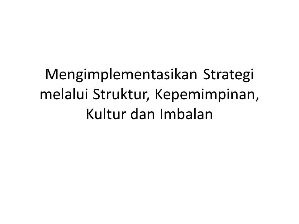 Mengimplementasikan Strategi melalui Struktur, Kepemimpinan, Kultur dan Imbalan