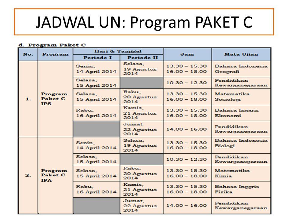JADWAL UN: Program PAKET C