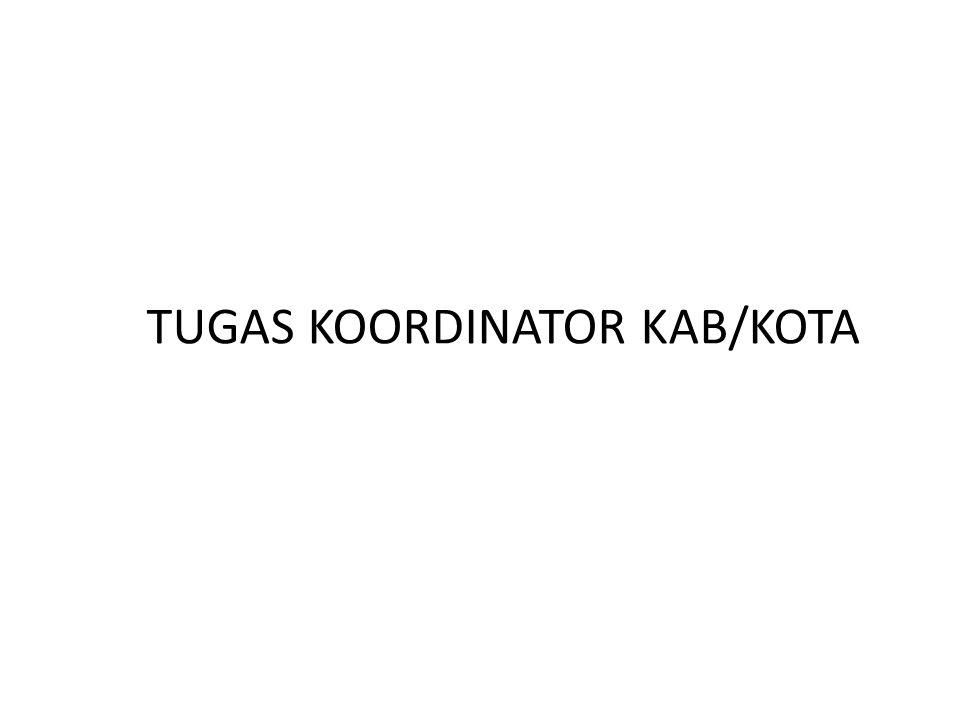 TUGAS KOORDINATOR KAB/KOTA