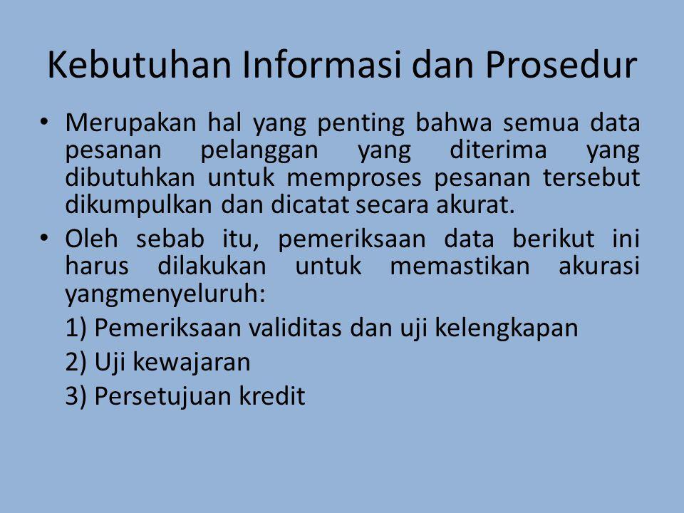 Merupakan hal yang penting bahwa semua data pesanan pelanggan yang diterima yang dibutuhkan untuk memproses pesanan tersebut dikumpulkan dan dicatat secara akurat.