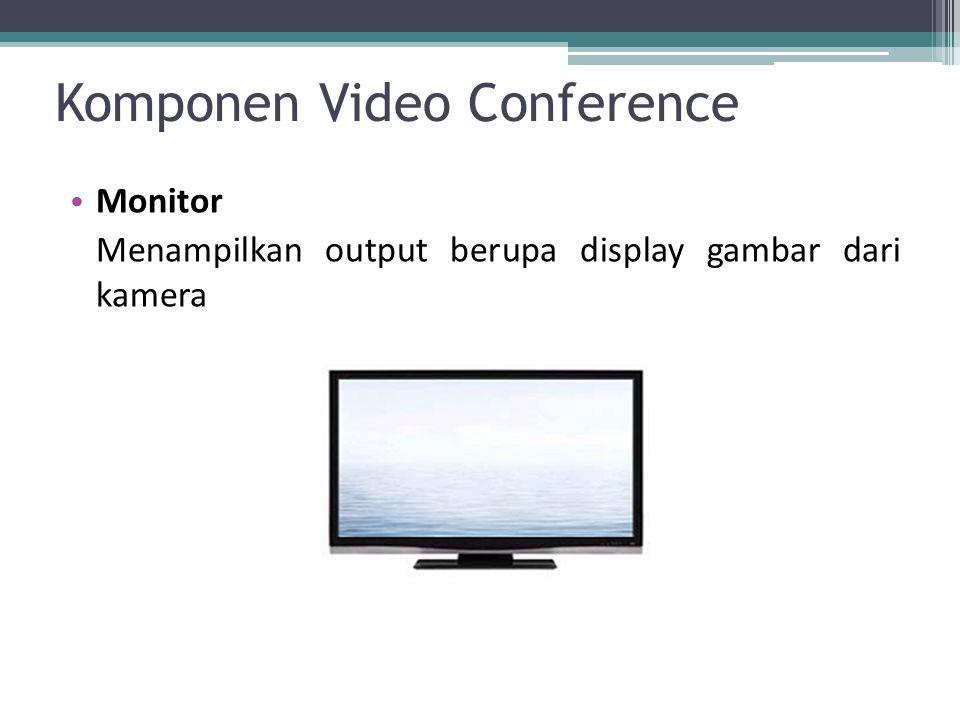 Komponen Video Conference Monitor Menampilkan output berupa display gambar dari kamera