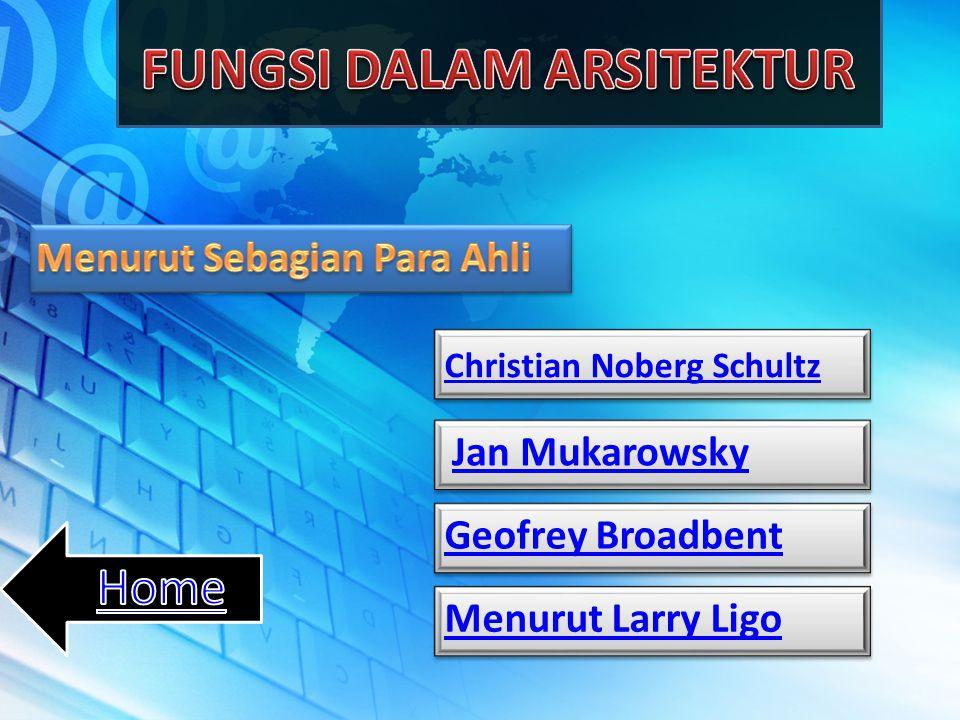 Christian Noberg Schultz Jan Mukarowsky Geofrey Broadbent Menurut Larry Ligo