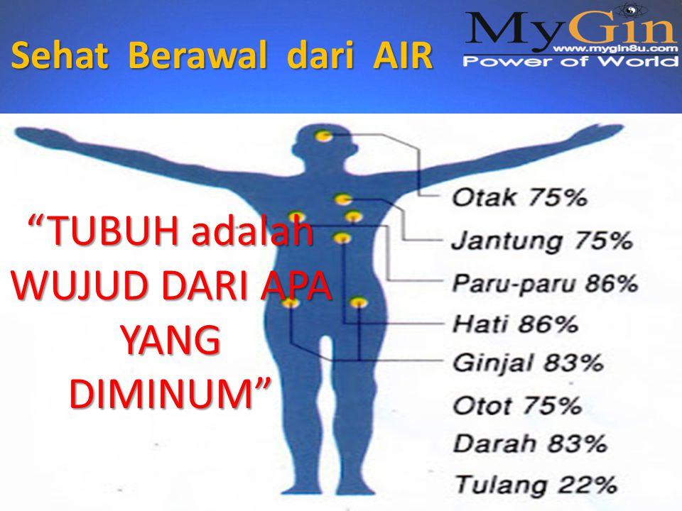 Sehat Berawal dari AIR TUBUH adalah WUJUD DARI APA YANG DIMINUM