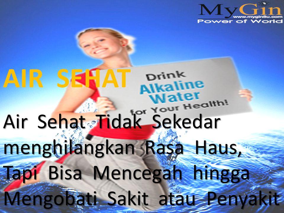 Air Sehat Tidak Sekedar menghilangkan Rasa Haus, Tapi Bisa Mencegah hingga Mengobati Sakit atau Penyakit AIR SEHAT