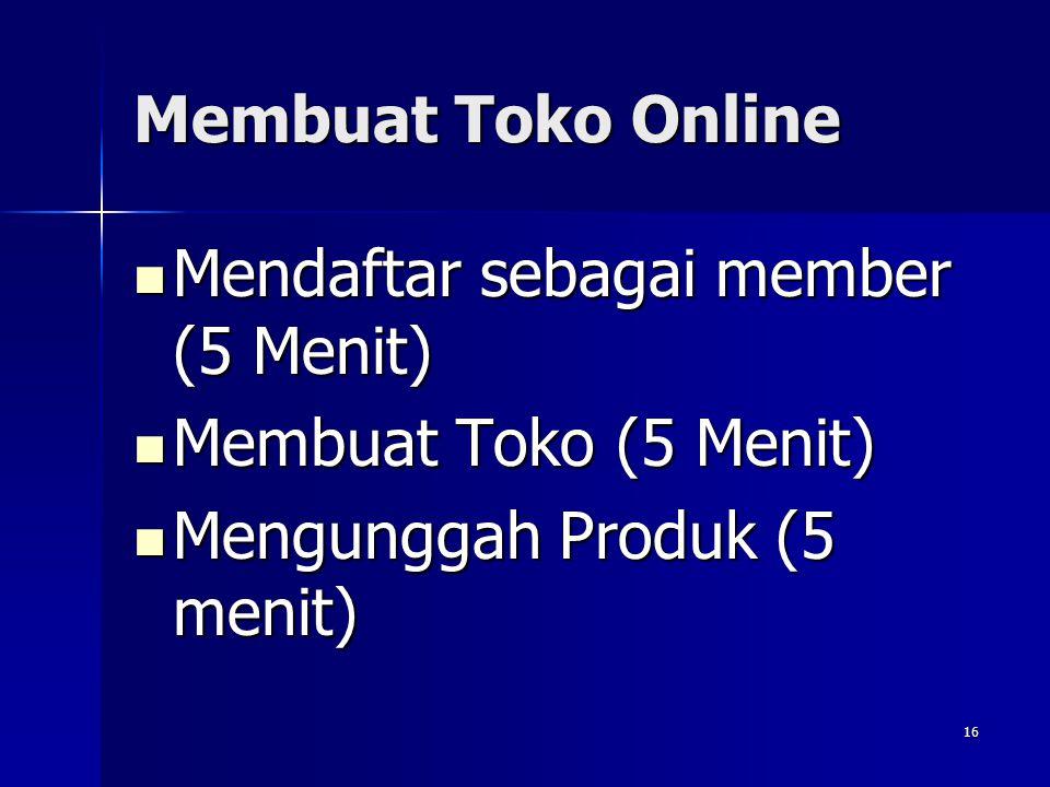 Membuat Toko Online Berapa lama waktu yang dibutuhkan untuk membuat toko Online? Berapa lama waktu yang dibutuhkan untuk membuat toko Online? HANYA 15