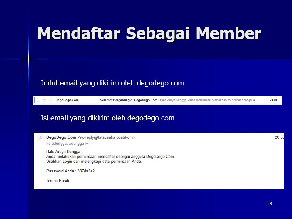 Mendaftar Sebagai Member Wahyu Pramusinto, S.Komhttp://away.web.id - wahyupramusinto@gmail.com 18