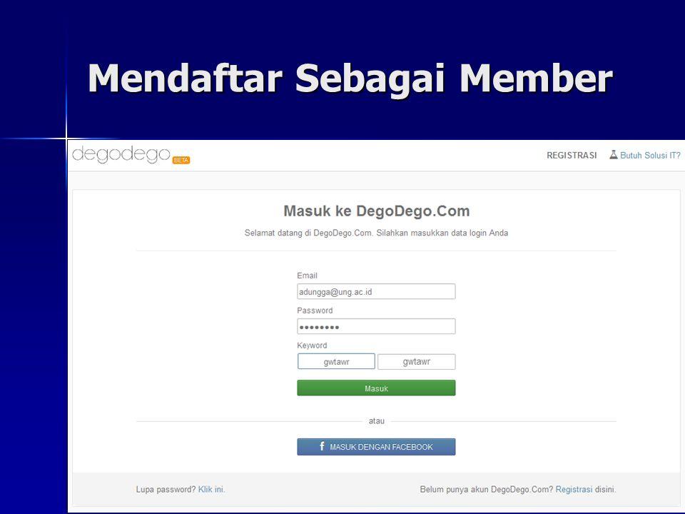 Mendaftar Sebagai Member 19 Judul email yang dikirim oleh degodego.com Isi email yang dikirim oleh degodego.com