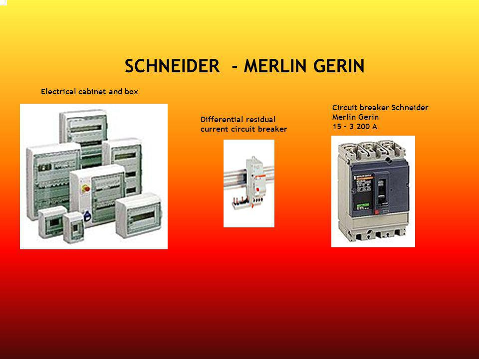 Circuit breaker Schneider Merlin Gerin 15 - 3 200 A Differential residual current circuit breaker Electrical cabinet and box SCHNEIDER - MERLIN GERIN