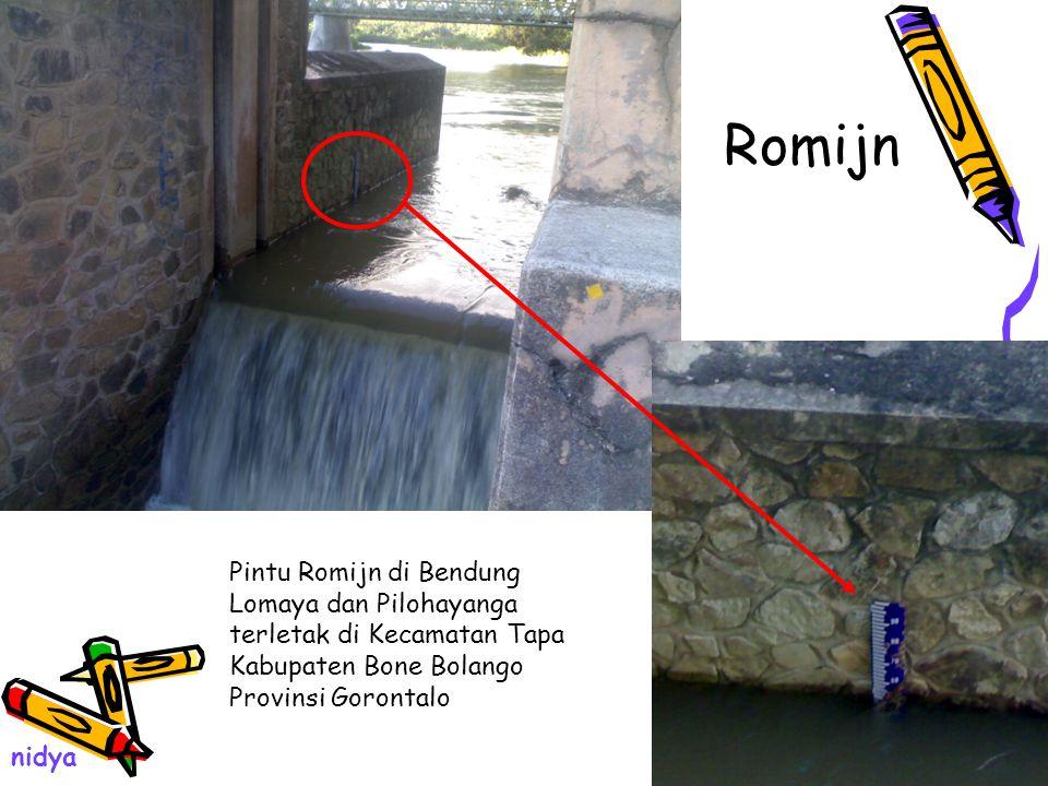 Romijn Pintu Romijn di Bendung Lomaya dan Pilohayanga terletak di Kecamatan Tapa Kabupaten Bone Bolango Provinsi Gorontalo nidya