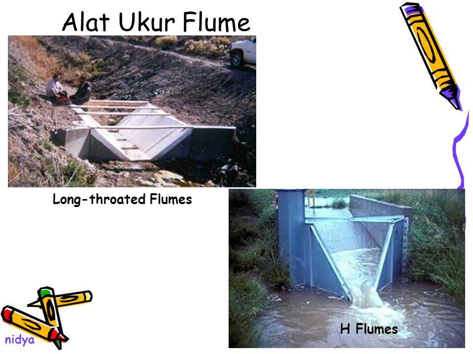 Alat Ukur Flume Long-throated Flumes H Flumes nidya