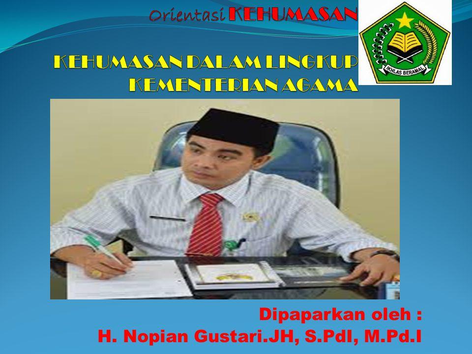 Dipaparkan oleh : H. Nopian Gustari.JH, S.PdI, M.Pd.I