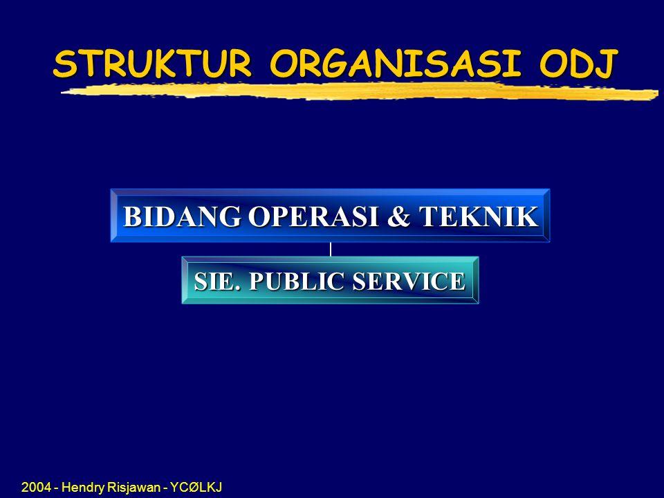 STRUKTUR ORGANISASI ODJ BIDANG OPERASI & TEKNIK SIE. PUBLIC SERVICE