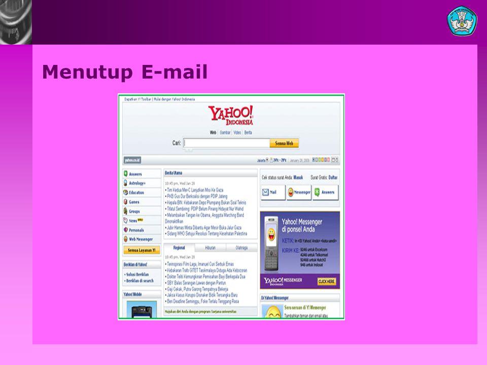 Menutup E-mail