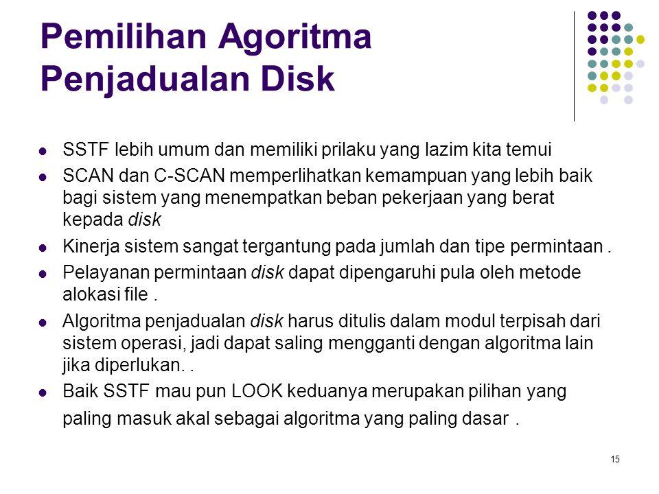 16 Manajemen Disk Low-level formatting, or physical formatting — Membagi disk ke dalam sektor dimana disk controller dapat membaca dan menulis.