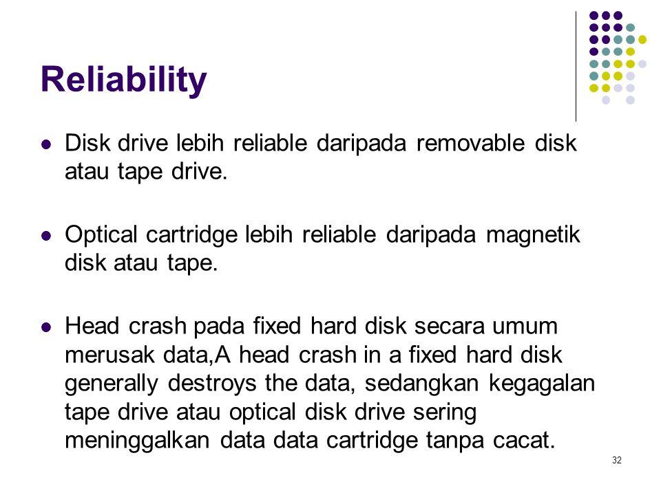 33 Biaya Main memori lebih mahal dibandingkan disk storage.