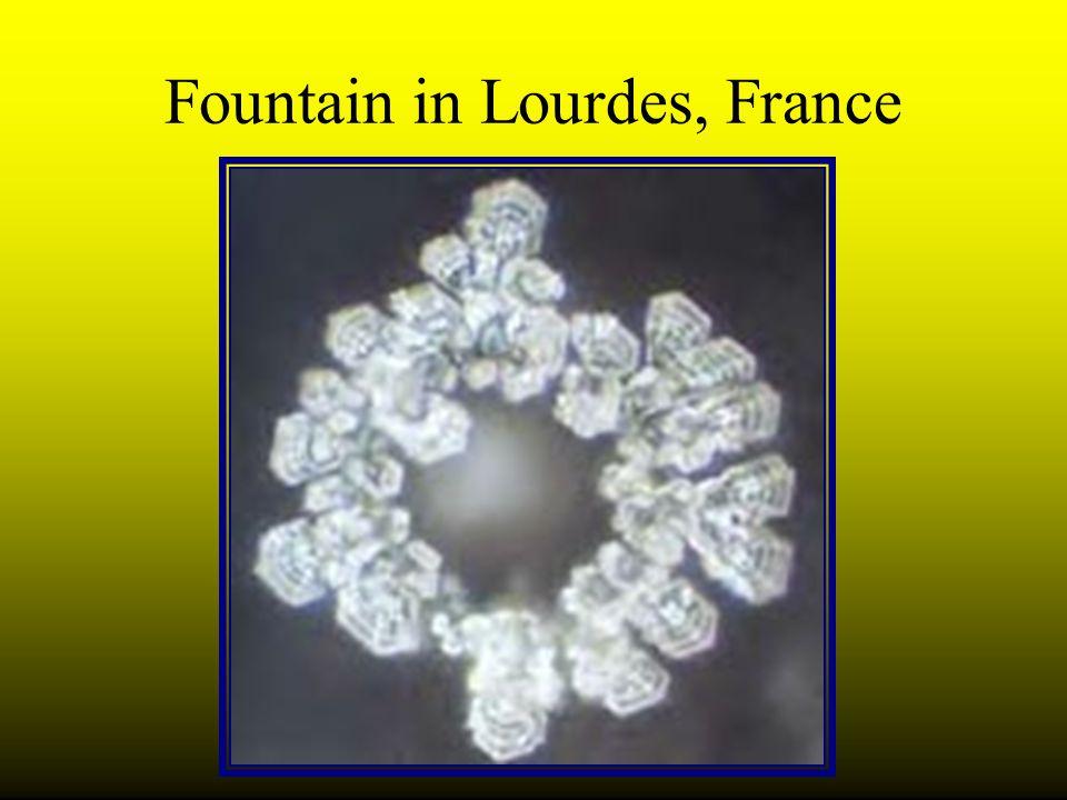 Fountain in Lourdes, France